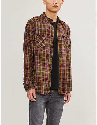 The Kooples Relaxed-fit checked woven shirt