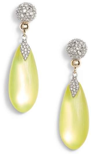 Crystal Encrusted Lucite(R) Drop Earrings