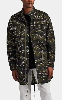 Alpha Industries Men's Camouflage-Print Cotton Parka - Grn. Pat.