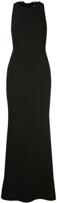 Badgley Mischka sequin embellished tie-back dress