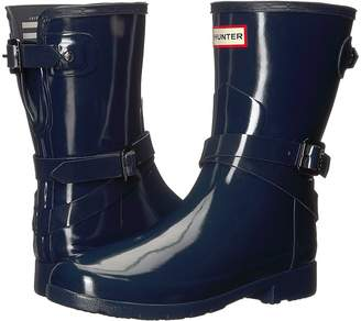 Hunter Refined Adjustable Short w/ Ankle Strap Gloss Women's Boots