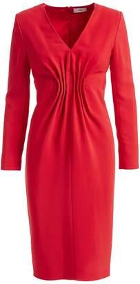 Wolf & Badger Felia Red Cady Bodycon Midi Dress