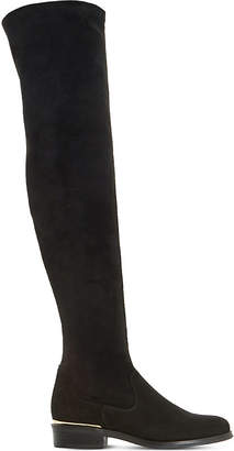 Dune Taiya stretch-suede over-the-knee boots