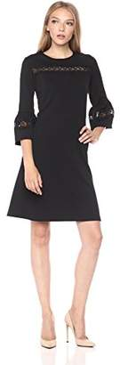 Gabby Skye Women's 3/4 Sleeve Scoop Neck Knit Shift Dress