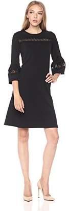 Gabby Skye Women's 3/4 Sleeve Scoop Neck Knit Shift Dress