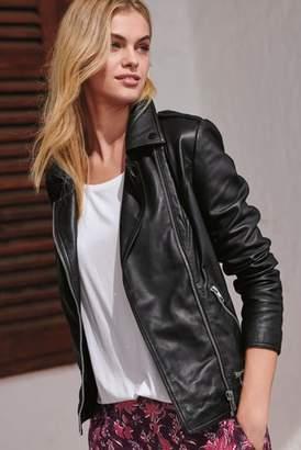 Next Womens Black Leather Biker Jacket