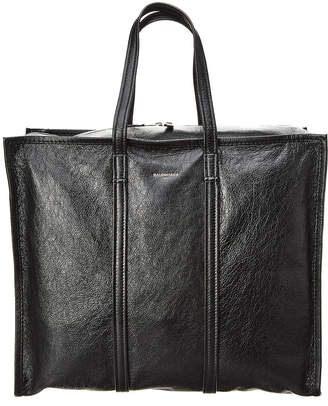 Balenciaga Bazar Large Leather Shopper Tote