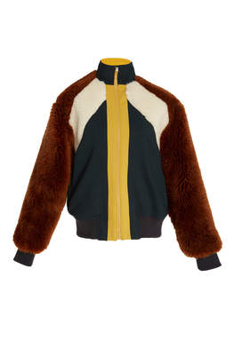 Wool Tradition Combo Mohair Track Jacket