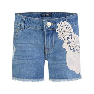 GUESS GuessGirls Blue Denim Lace Applique Shorts