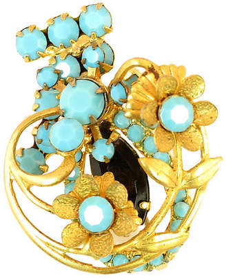One Kings Lane Vintage Juliana 3D Turquoise Floral Brooch