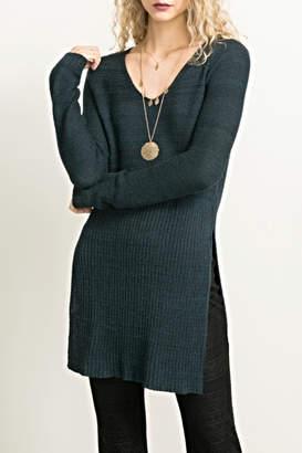 Hem & Thread Long Sideslit Sweater