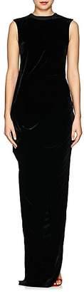 Rick Owens Women's Ellipse Velvet Maxi Dress - Black
