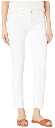 Mavi Jeans Adriana Mid-Rise Super Skinny Ankle Jeans in Double White Tribeca