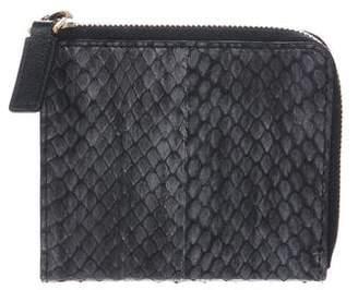 Alexander McQueen Snakeskin Compact Wallet