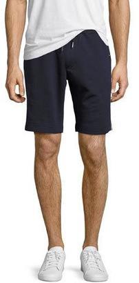 Moncler Tricolor-Trim Sweat Shorts, Navy $215 thestylecure.com