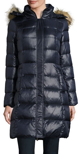 Kate Spade Kate Spade New York Faux Fur-Trimmed Down Puffer Coat