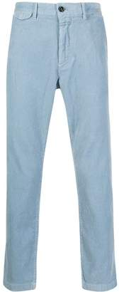 Closed corduroy straight leg trousers