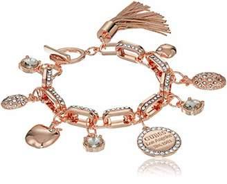 GUESS Women's Logo Update Link Charm Bracelet