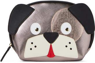 Stella & Max Rose Silver Dog Cosmetic Case