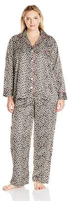 Carole Hochman Women's Plus Size Brush Back Satin Pajama