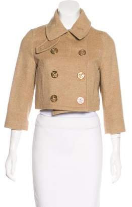 Opening Ceremony Cropped Wool Jacket