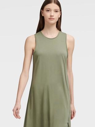 DKNY Midi Dress With Zip Detail