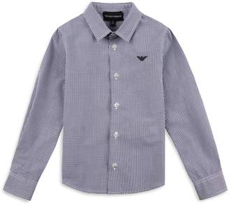 Armani Junior Micro Check Shirt