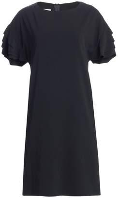 Akris Punto Ruffle Sleeve Shift Dress