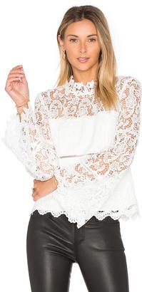 Bardot x REVOLVE Sansa Lace Top $99 thestylecure.com