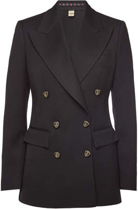 Burberry Patterdale Wool Blazer with Silk