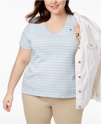 Tommy Hilfiger Plus Size Cotton Striped T-Shirt