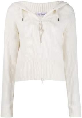 Brunello Cucinelli ribbed zipped sweatshirt