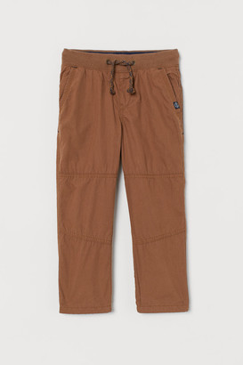 H&M Jersey-lined trousers