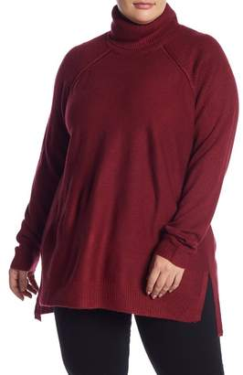 Joe Fresh Turtleneck Raglan Sleeve Sweater (Plus Size)
