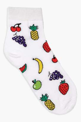 boohoo Fruit Bowl Ankle Socks