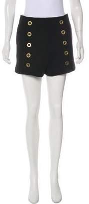 Chloé Wool High-Rise Mini Shorts