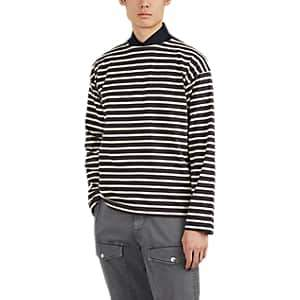 Margaret Howell Men's Breton-Striped Cotton Long-Sleeve T-Shirt - Dk Gray