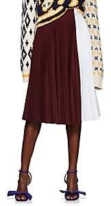 Calvin Klein Women's Colorblocked Pleated Skirt-White
