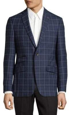 Ted Baker No Ordinary Joe Plaid Wool Suit Jacket