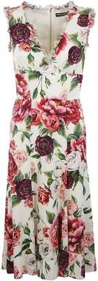 Dolce & Gabbana Rose Print Dress