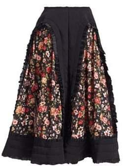 Comme des Garcons Floral Panel A-Line Skirt