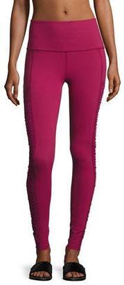 Beyond Yoga High-Waist Shirred-Panel Leggings, Merlot $115 thestylecure.com