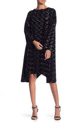 Couture Go Velvet Sharkbite Dress