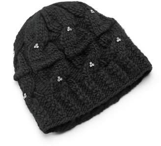 7095fcedbbf Sijjl SIJJL Women s Rhinestone Cable-Knit Wool Beanie