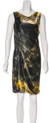 Alberta Ferretti Printed Sheath Dress