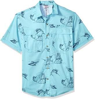 Izod Men's Saltwater Easy Care Fishing Short Sleeve Shirt