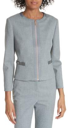 Ted Baker Nadae Cropped Textured Jacket