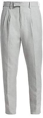 Ermenegildo Zegna Men's Pleated Cotton& Linen Pants