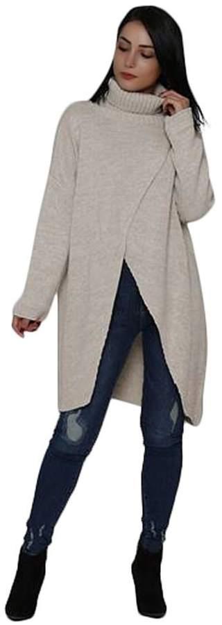 L'adore Crossover Tunic Sweater