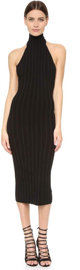 Cushnie Et Ochs Mock Neck Backless Dress